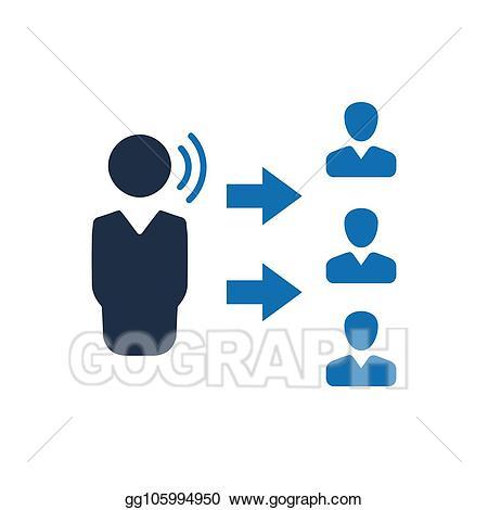 Announcements clipart business announcement. Eps illustration icon vector