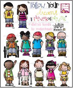 Cuties bundle by melonheadz. Announcements clipart classroom