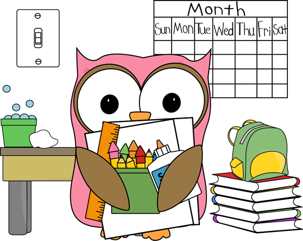 Announcements clipart classroom. Owl job subsitute clip