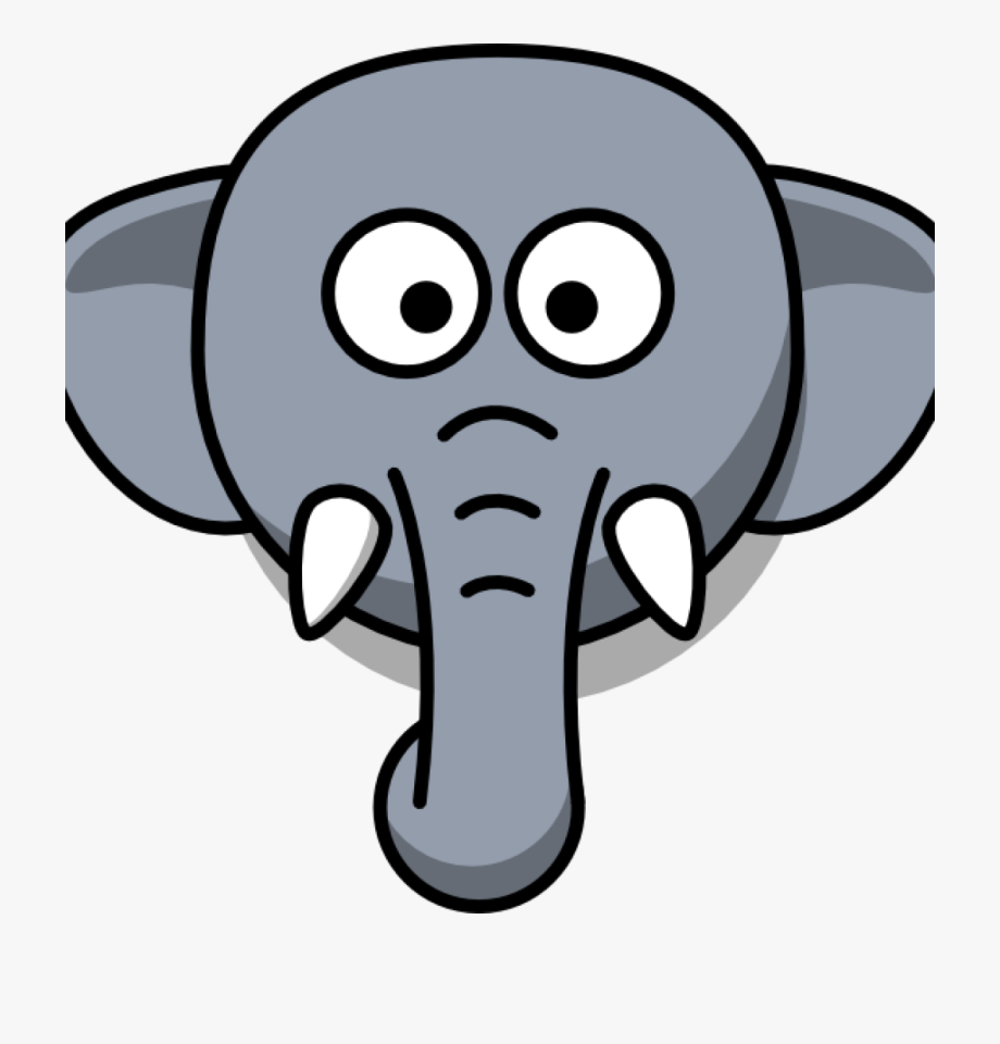 Announcements clipart elephant. Face mountain hatenylo