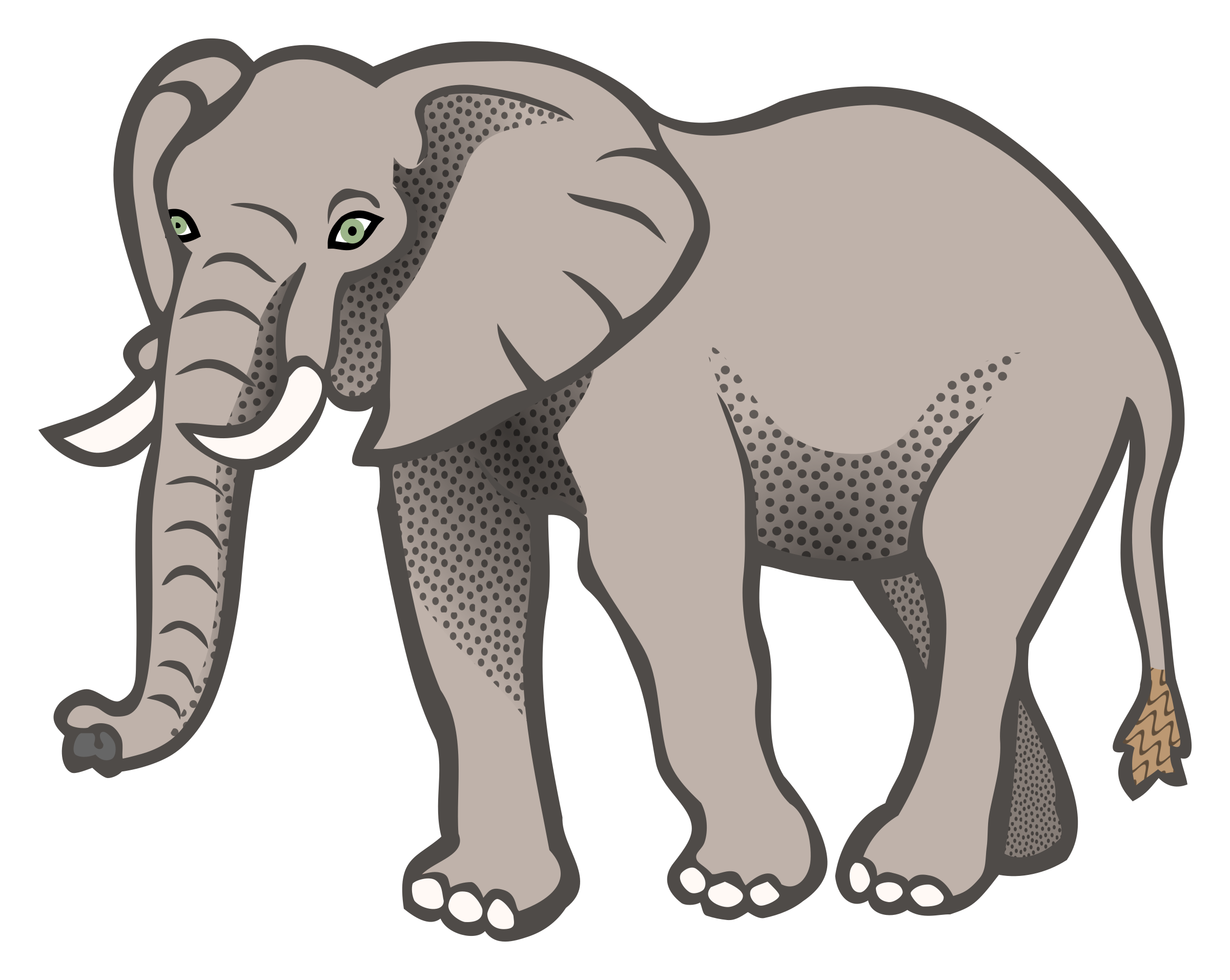 Coloured big image png. Clipart elephant