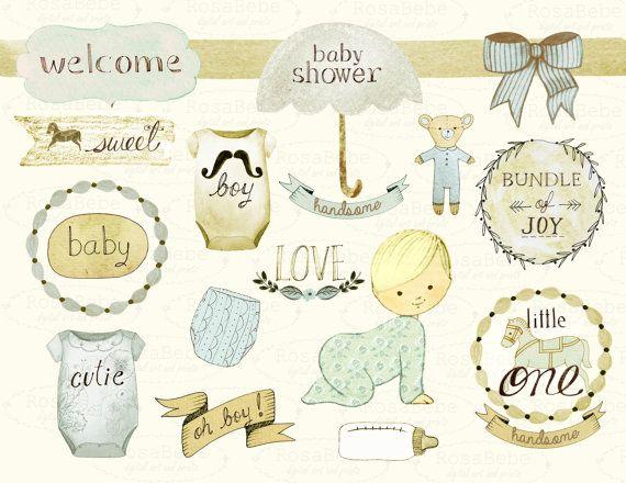 Baby shower celebration ideas. Announcements clipart group