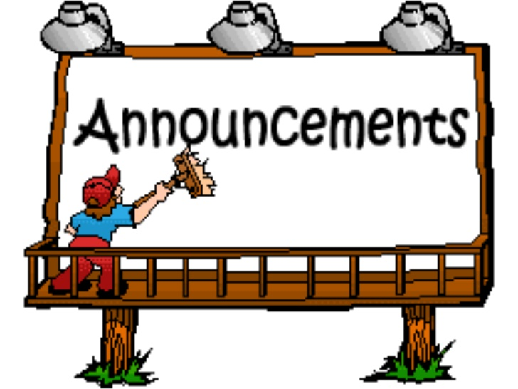 Announcements clipart group. Upcoming slideshare