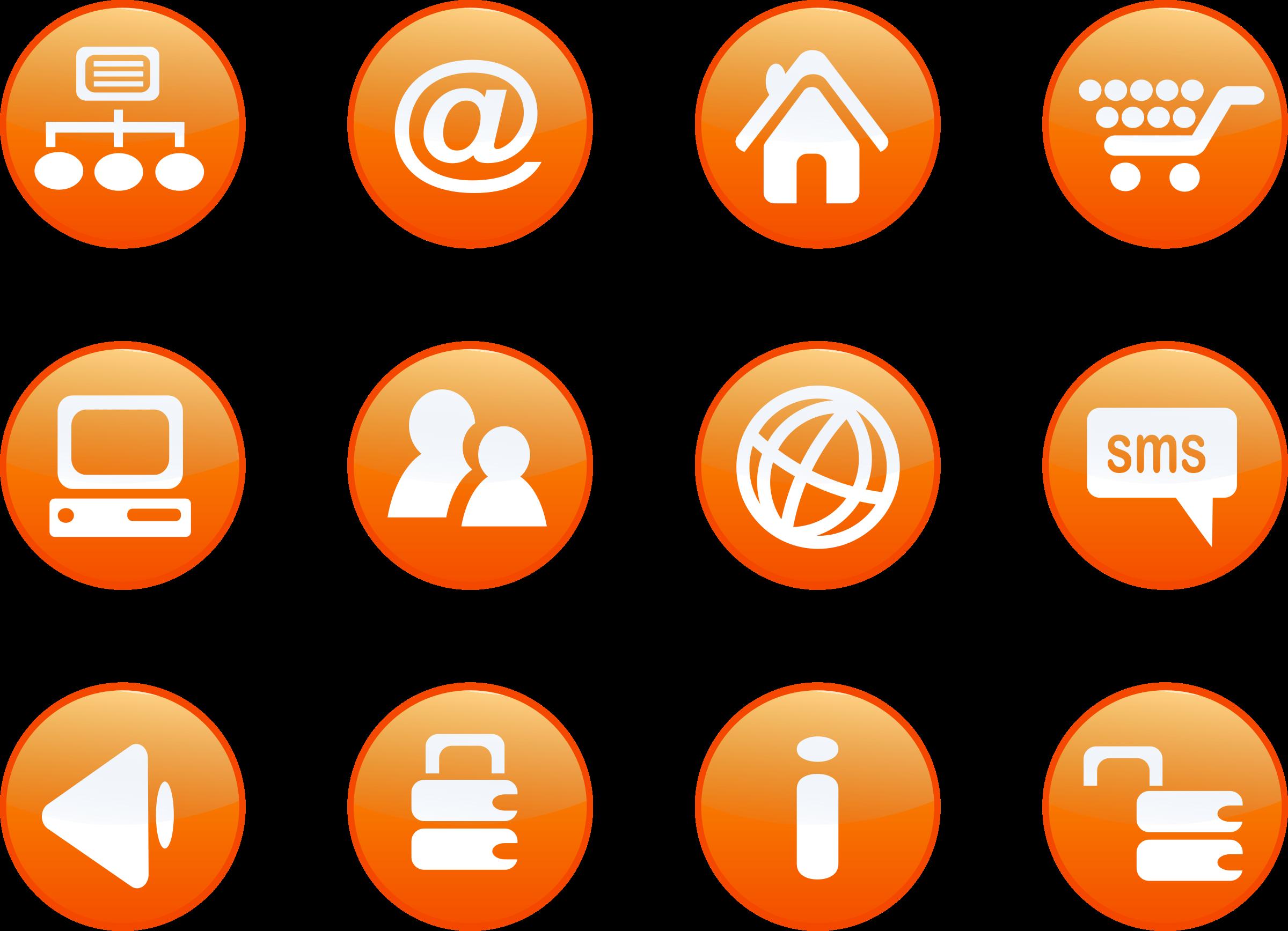 Website clipart website button. Icons orange web candy