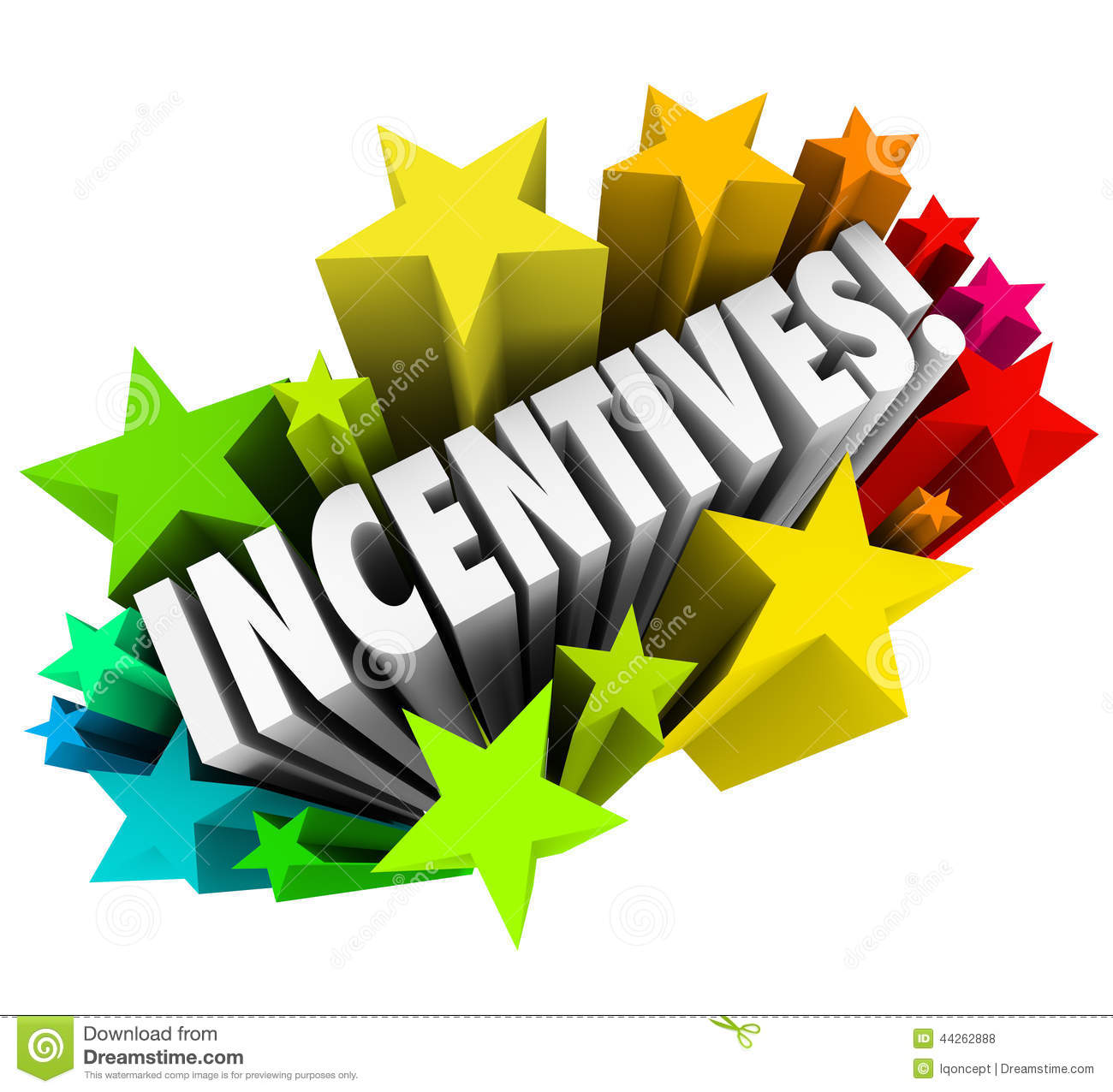 Incentives for employees station. Announcements clipart incentive