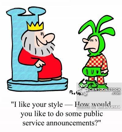 Announcements clipart job announcement. Public service cartoons and