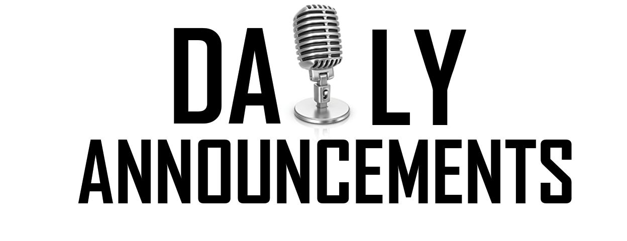 Announcements clipart job announcement. Dudley charlton regional school