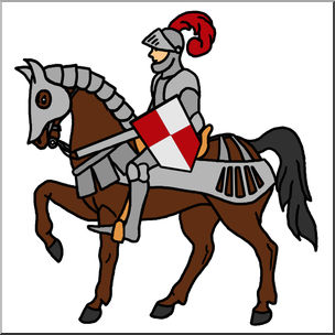 Clip art history mounted. Announcements clipart medieval