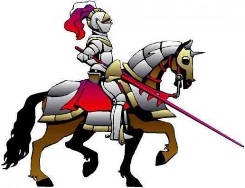 Announcements clipart medieval. Knight cartoon ages knights