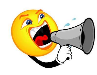 Announcements clipart megaphone. Station