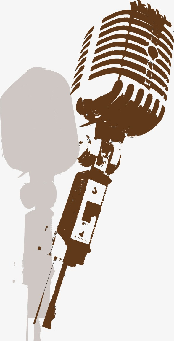 Brown microphone png image. Announcements clipart mike