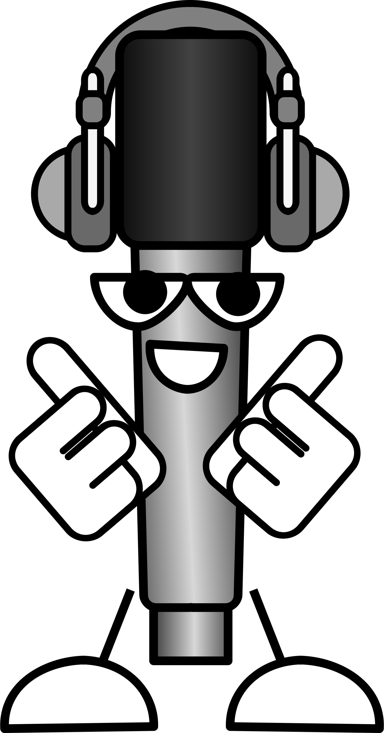 Mike the mic with. Microphone clipart painting
