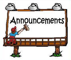 Announcements clipart news announcement. Free