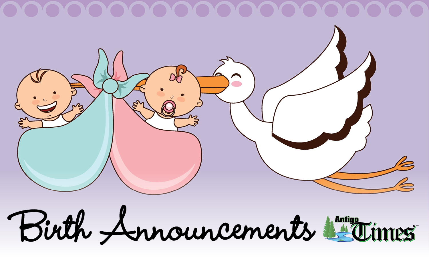 Announcements clipart news announcement. Birth for antigo times