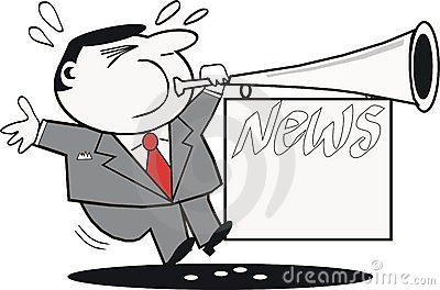 News cartoon panda free. Announcements clipart publicity