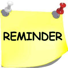 Announcements clipart reminder. Free clip art images