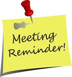 Meeting . Announcements clipart reminder