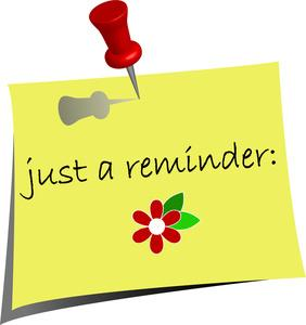 Few reminders m jyn. Announcements clipart reminder