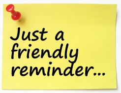 Free reminders cliparts download. Announcements clipart reminder