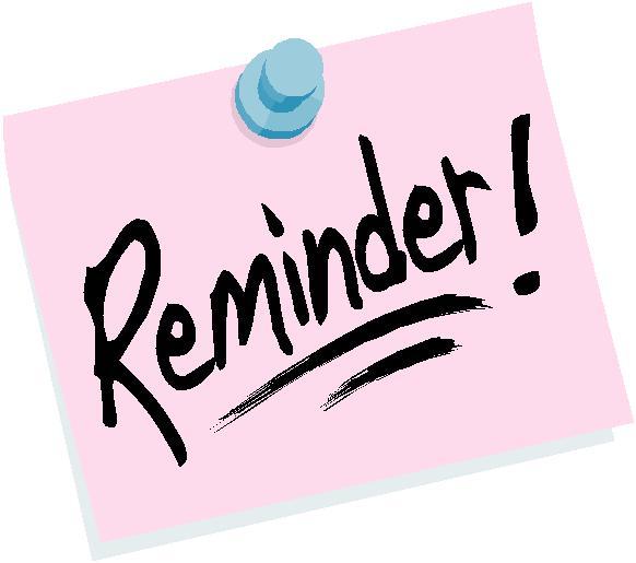 Announcements clipart reminder. Clip art images free