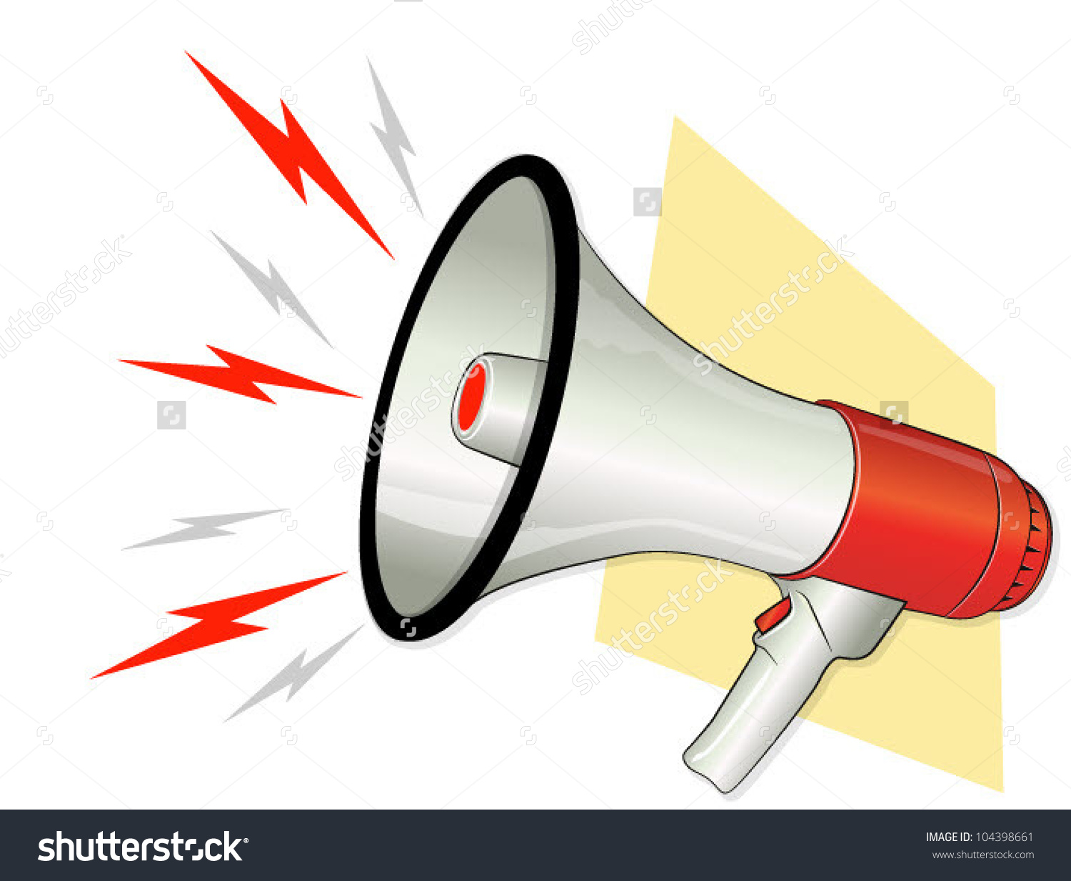 Loud pictures station . Announcements clipart sound