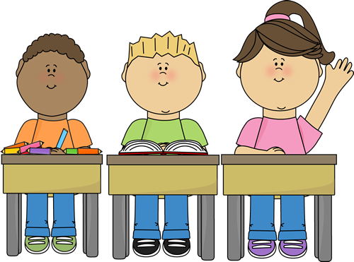 Announcements clipart student. Students at school clip