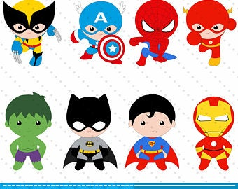 Etsy . Announcements clipart superhero