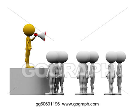 Stock illustrations d leader. Announcements clipart team