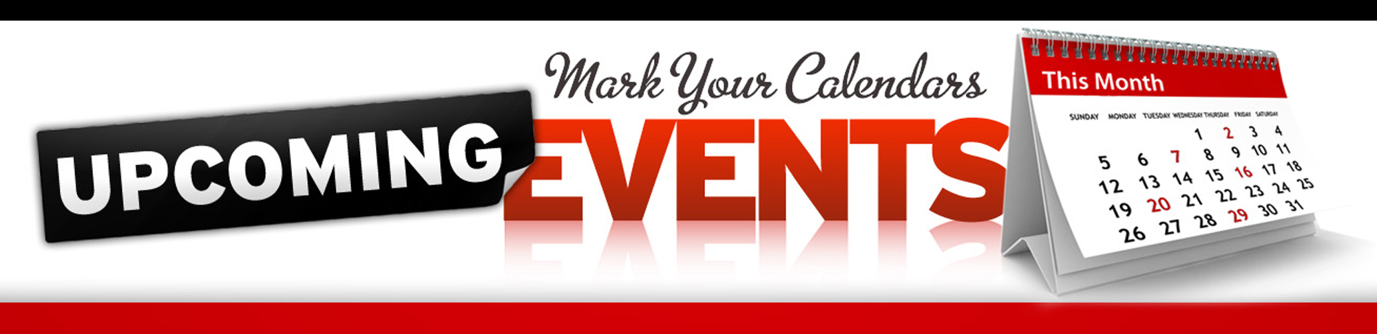 Mark your calender events. Announcements clipart upcoming event