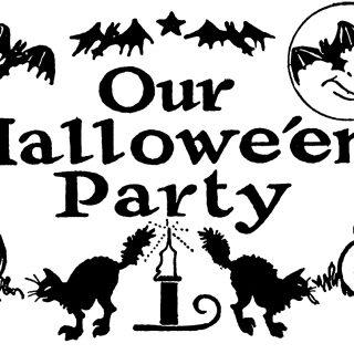 Announcements clipart vintage. Halloween clip art archives