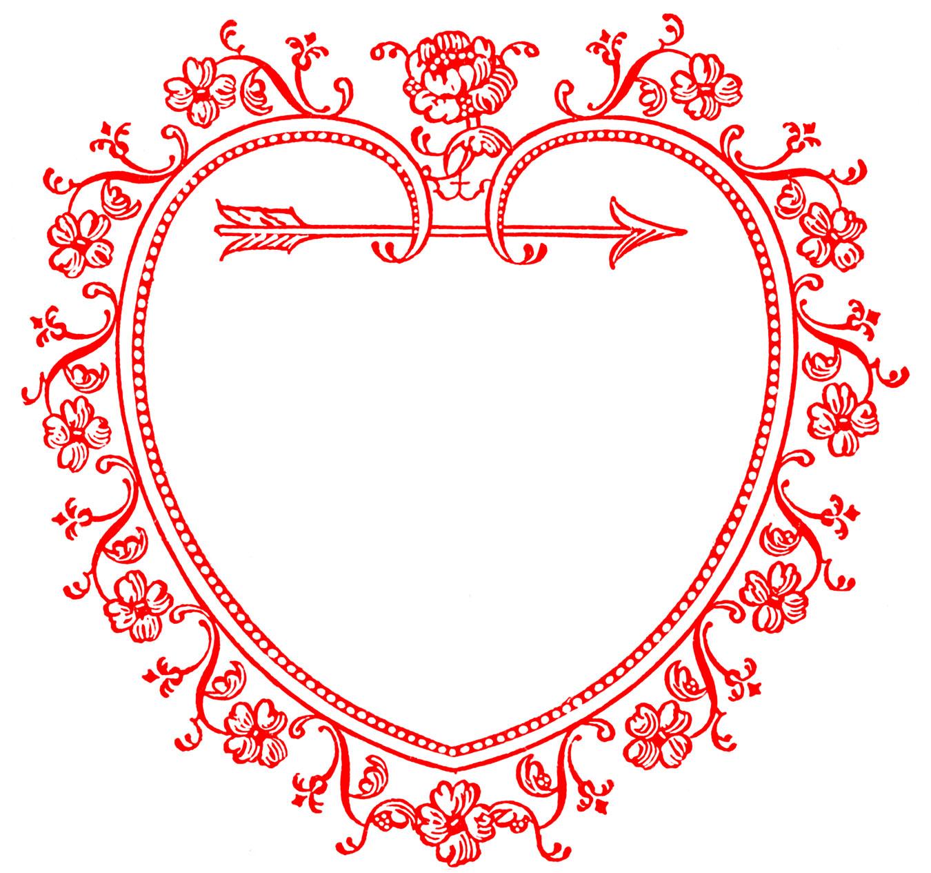 Valentine s day clip. Announcements clipart vintage