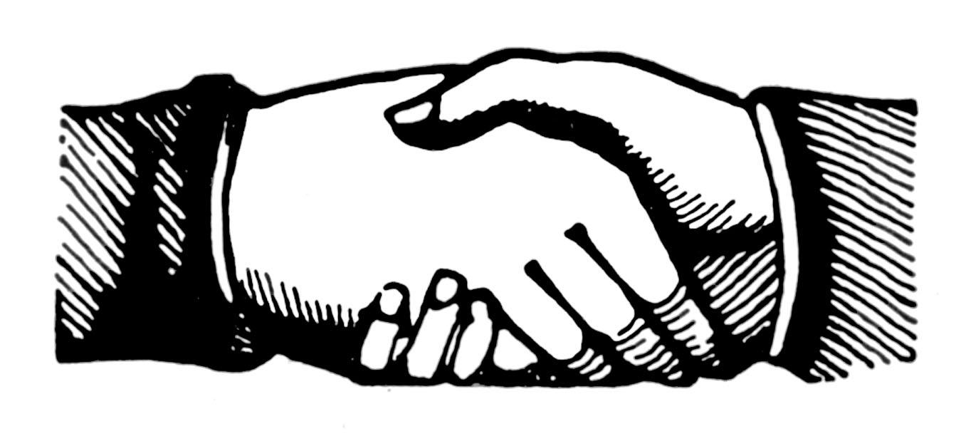 Announcements clipart vintage. Clip art shaking hands