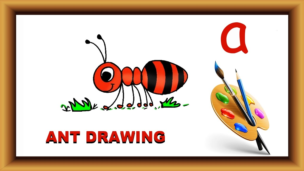 Ant clipart alphabet. How to draw with