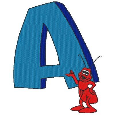 A zen cart wind. Ant clipart alphabet