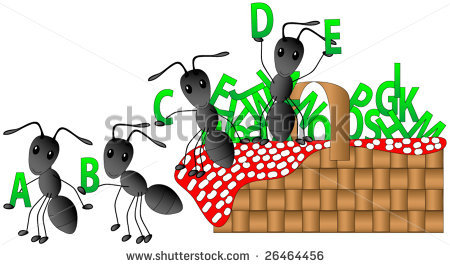 Ants at a picnic. Ant clipart alphabet