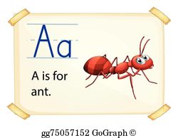 Eps illustration a with. Ant clipart alphabet