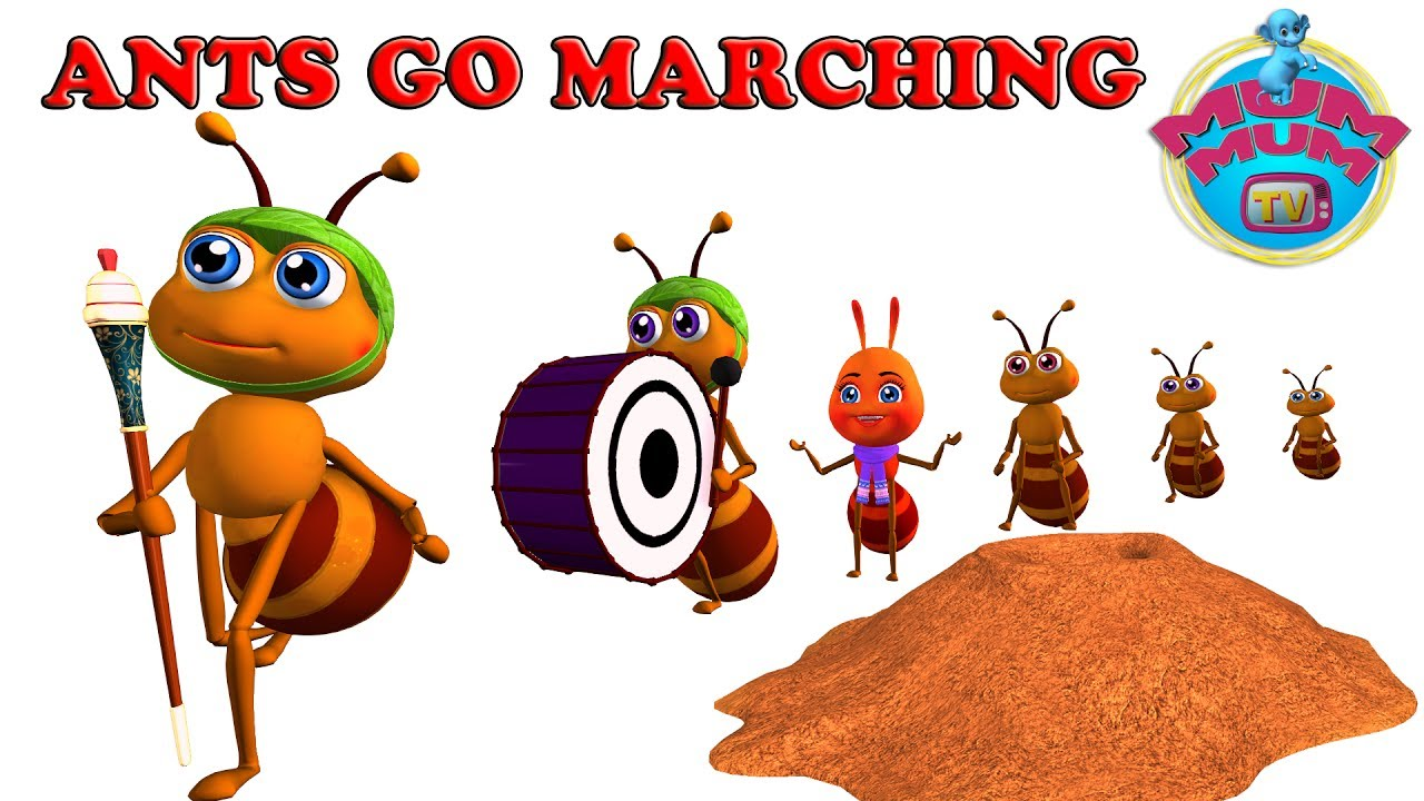 Ant clipart ants marching. The go song with