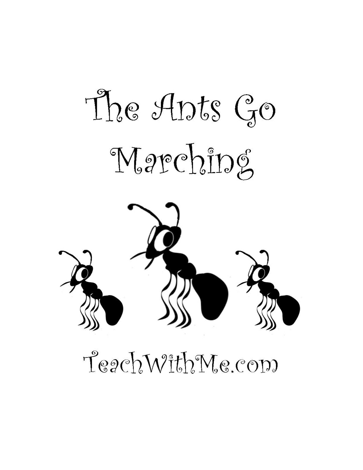 Go . Ant clipart ants marching