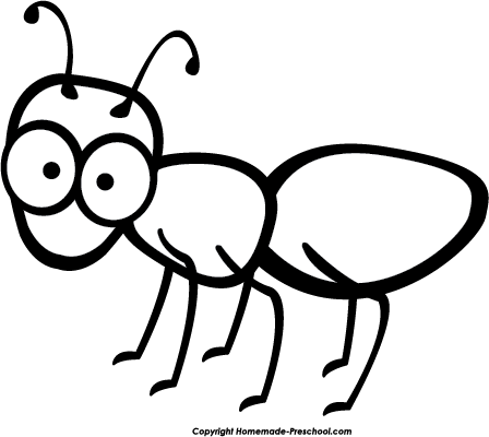 Free preschool cliparts download. Ant clipart black and white