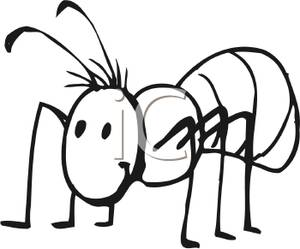 Ants clipart black and white. Ant panda free images
