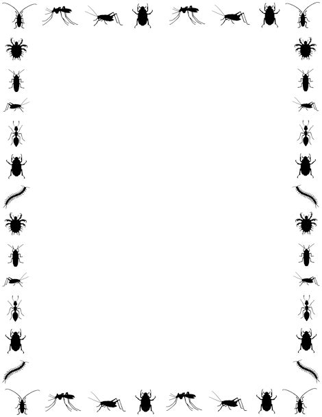 Ant clipart border. Template for powerpoint