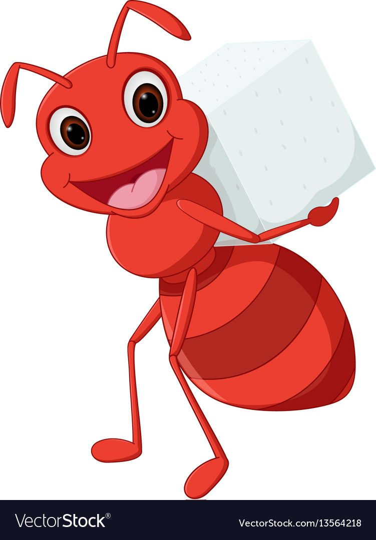 Pin on children . Ant clipart carry