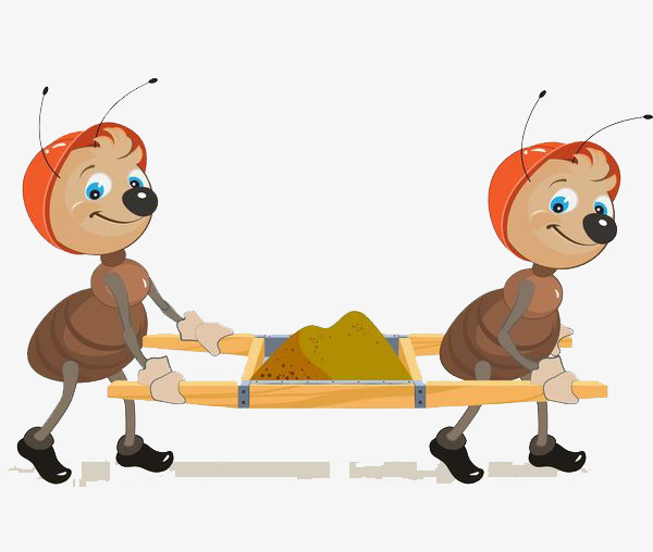 Ants carrying the soil. Ant clipart carry