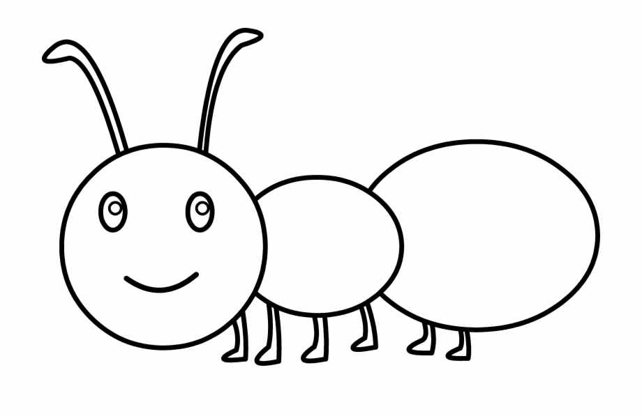 Ant clipart coloring. Spider cute clip art