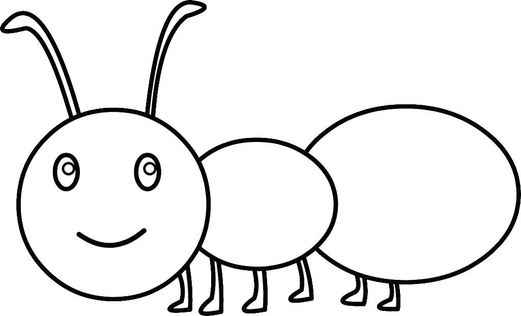 Pictures to color pages. Ant clipart coloring