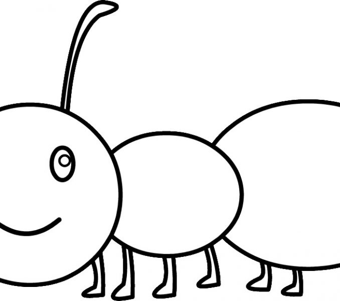 Free clip art pages. Ant clipart coloring