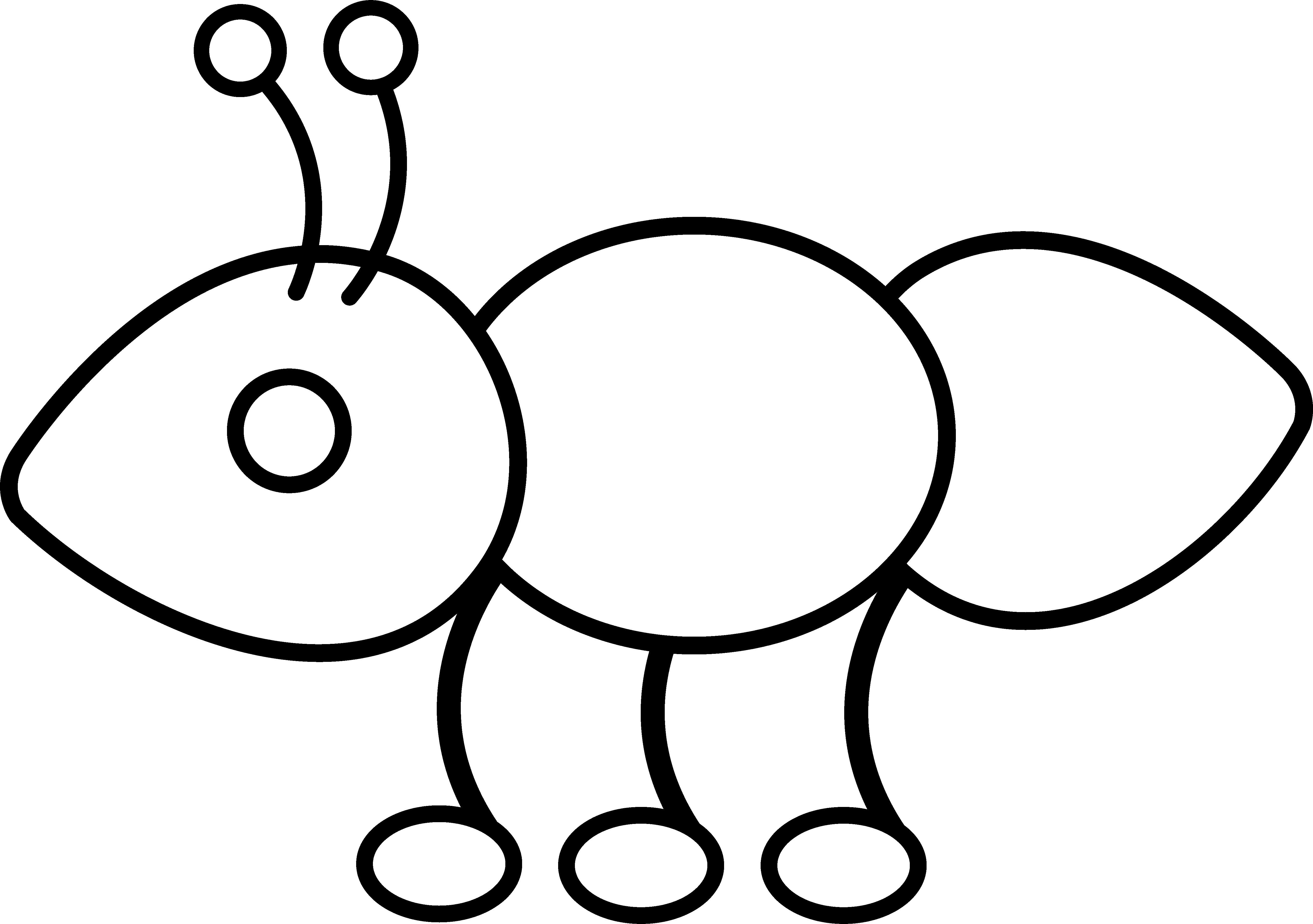 New coloring collection printable. Ant clipart colouring page