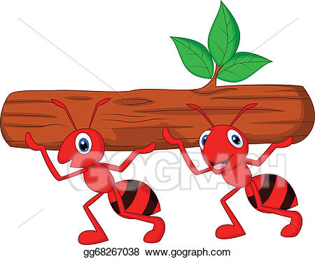 Vector art team of. Ant clipart cooperation