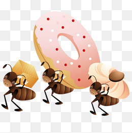 Carrying the soil ant. Ants clipart cooperation