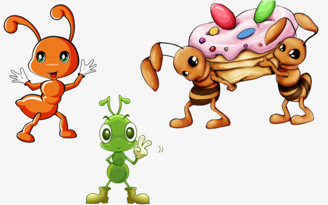 Ants clipart cooperation. Feeding cake ant png